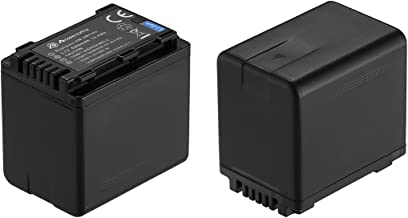 Powerextra 2 Pack Replacement Batteries for Panasonic VW-VBT380 and Panasonic HC-V210, HC-V250, HC-V380, HC-V510, HC-V520, HC-V710, HC-V720, HC-V750, HC-V770, HC-VX870, HC-VX981K, HC-WXF991K
