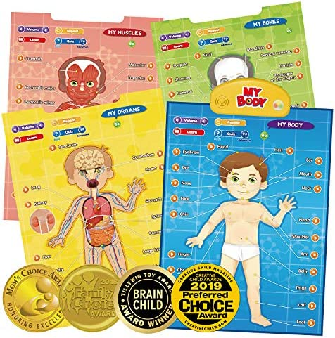 BEST LEARNING i Poster My Body Interactive Educational Human Anatomy Talking Game Toy System product image