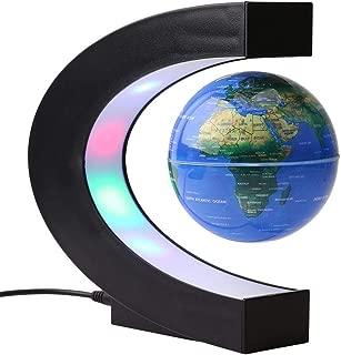 Floating Globes Levitating Globes with 4 Colored LED Lights 3