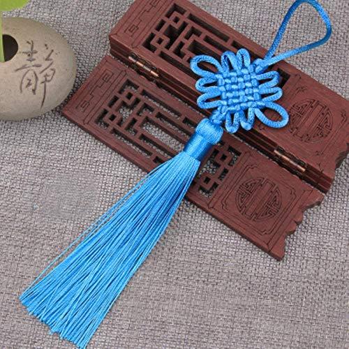 10Pcs Small Size Festive Tassels Pendant Small Knot Pendant for Decorations,10Pcs Light Blue