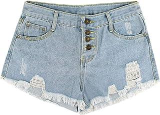 5cd89cb7f7f13 LA Haute Short en Jean déchiré, Ourlet Brut déchiré, Jeans Tendance,  Pantalon en