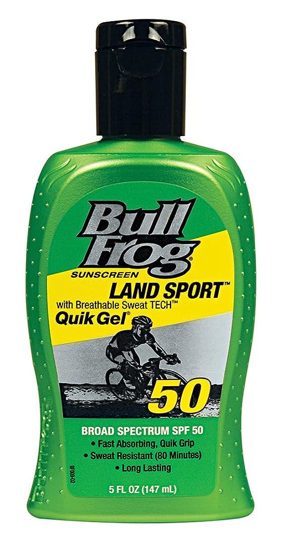 実装する鷹出来事Bull Frog ウシガエルランドスポーツQuikのジェル日焼け止め、SPF 50、5オンス