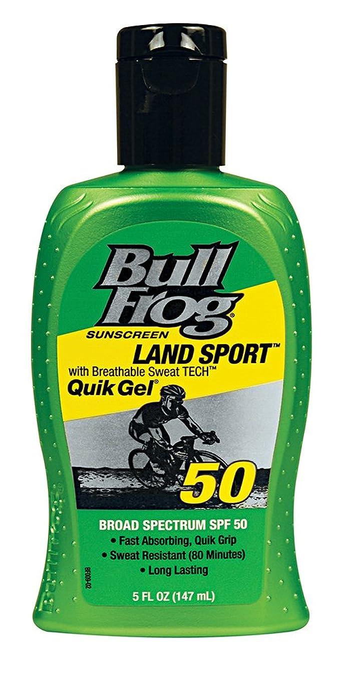 折り目ナビゲーション常にBull Frog ウシガエルランドスポーツQuikのジェル日焼け止め、SPF 50、5オンス