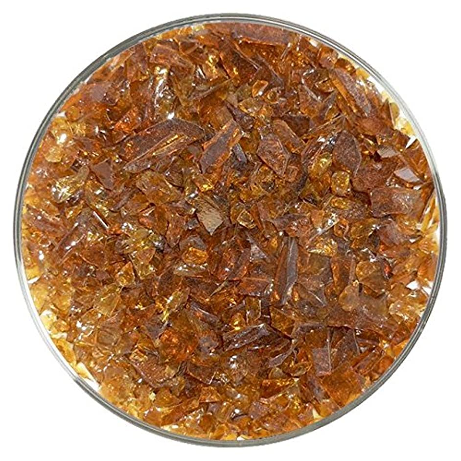 Medium Amber Transparent Coarse Frit - 96COE - 4oz - Made from System 96 Glass