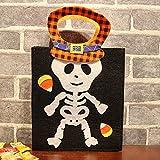 B/H Niños Halloween Accesorios Calabaza Bolsas,Decoración de Halloween Regalo de Mano para niños Bolsa de Dulces-B_2pcs,Bolsa De Dulces De Halloween Creativos