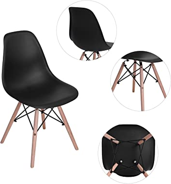 HomyCasa Dining Chairs Modern Style Dining Chairs Mid Century DSW Chair Shell Lounge Plastic Chair for Kitchen Dining Living