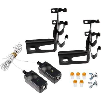 Safety Sensors for Chamberlain/LiftMaster/Craftsman Garage Door Opener (w/Brackets)