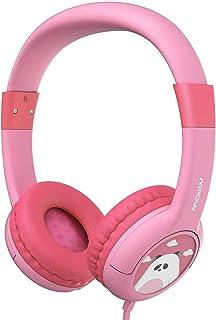 Mpow Kopfhörer Kinder, Kopfhörer für Kinder mit 85dB Lautstärke Begrenzung Gehörschutz & Musik Sharing Funktion, Kinderkopfhörer mit Kinderfreundliche sichere Lebensmittelqualität, Rosa