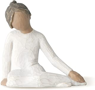 Willow Tree Thoughtful Child (darker skin tone & hair color), sculpted hand-painted figure