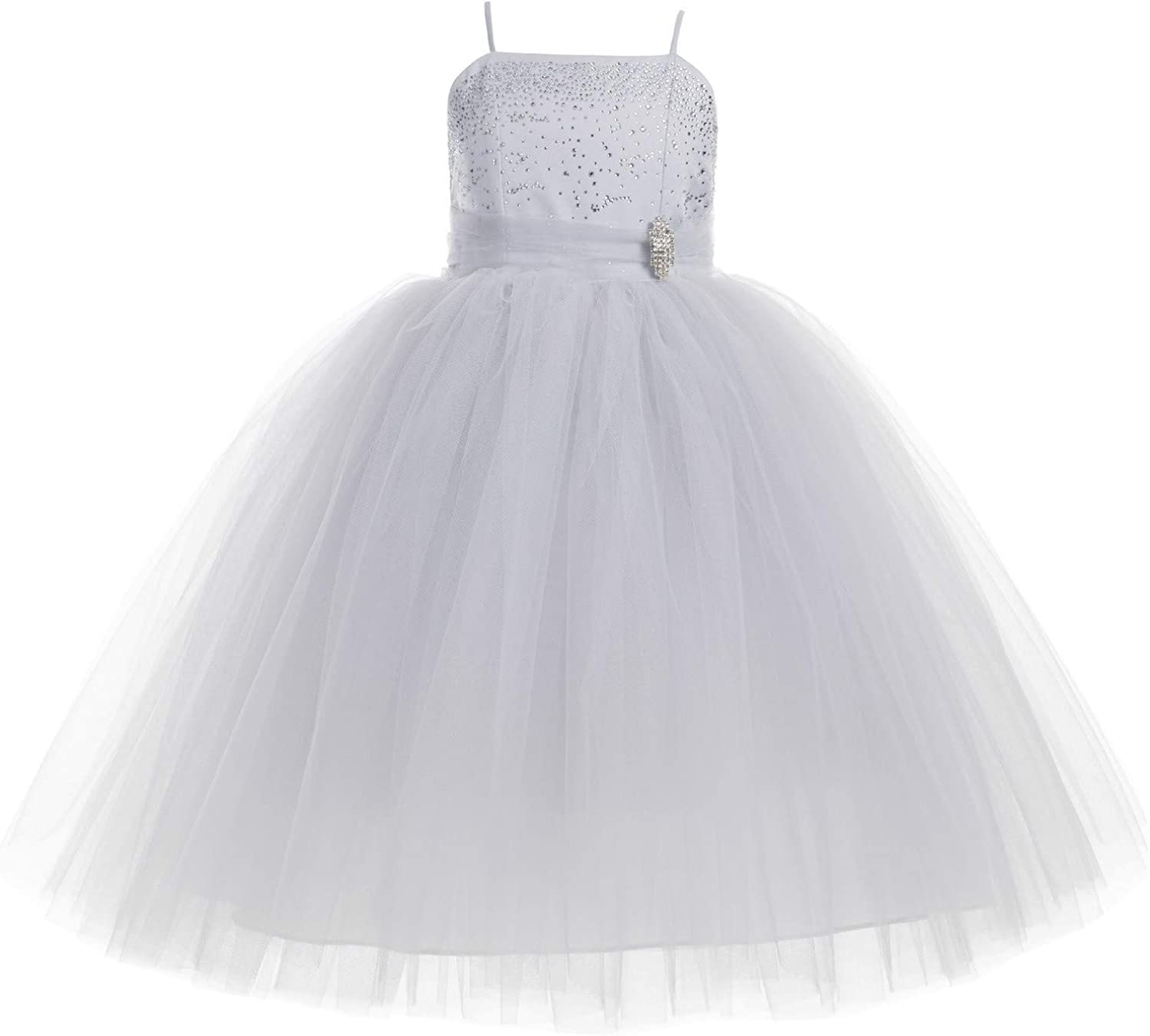 Online Max 61% OFF limited product Rhinestone Tulle Tutu Flower Girl D Ball Gown Dress Toddler