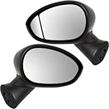 Pair Set Power Side View Mirrors Heated Type 1 Replacement for 12-17 Fiat 500 68087589AC 68103784AA AutoAndArt
