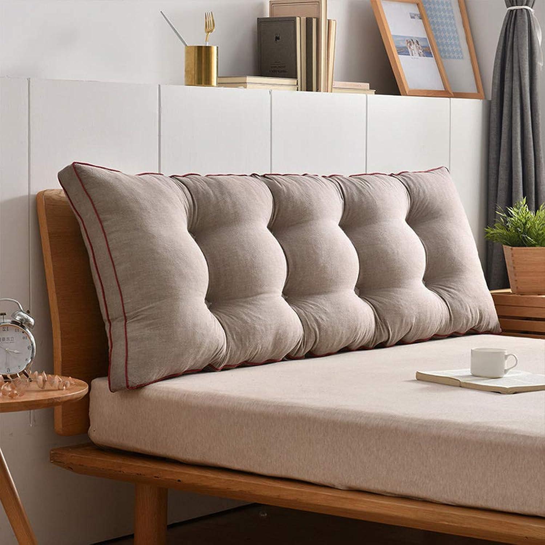 HGDR Coussin de canapé-lit Oreiller de Dossier Coussin de Lecture Coussin Lombaire à revêteHommest Amovible Coussin de Banquette Coussins Oreiller de Chevet,C-200  50 cm