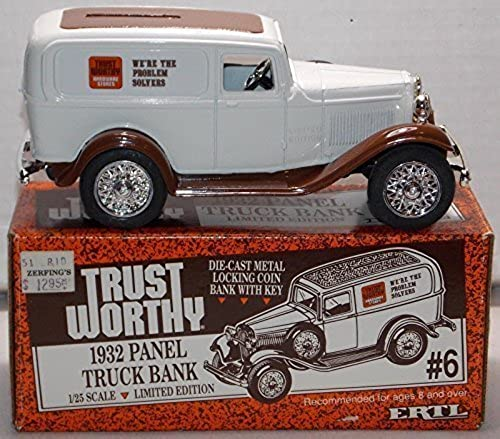 Ertl Die Cast Trust Worthy 1932 Panel Truck Bank with Key 1 25 Scale by Trust-Worthy