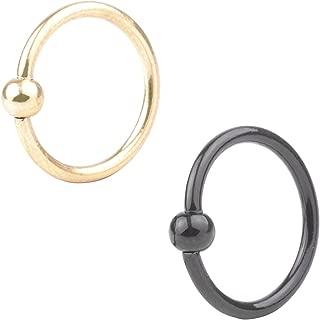 Surgical Steel 2-4pcs 16G Nose Septum Horseshoe Hoop Earring Eyebrow Tragus Lip Piercing Ring 3mm Ball 6mm