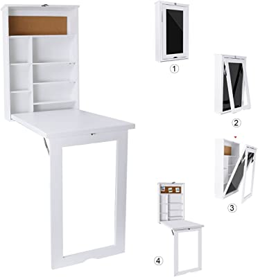 Amazon.com: Ustyle - Mesa plegable de escritorio convertible ...