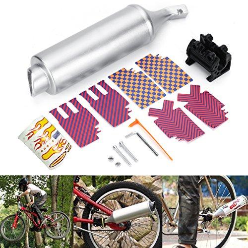 JenNiFer Fahrrad Exhaust Muffler System Motorrad Megaphone Pipe Sounds Lärm BMX Bike Engine