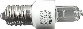 4 paquetes Bombilla de luz de horno de 12V 50W Bombilla de lámpara de tapa de tornillo E14 Secadora de lámpara halógena segura resistente a altas temperaturas para luz de sal, horno de microondas
