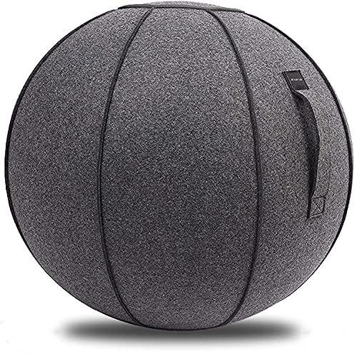 XGYLVFEI Home Office Yoga Silla de bola estable Fitness Ball Fieltro Tela Sentada Bola con Mango