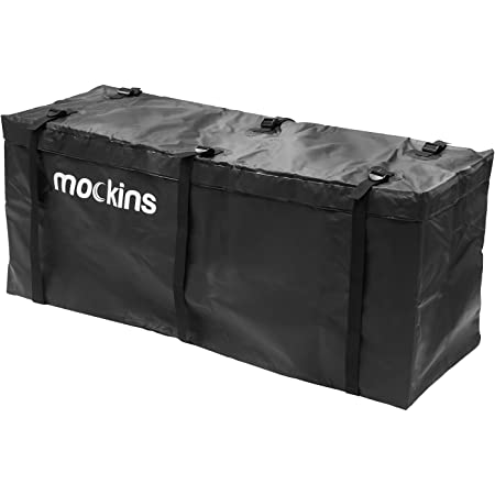 """Mockins Waterproof Cargo Carrier Bag   57"""" L X 19"""" W X 24"""" H   The Hitch Rack Cargo Bag is Made from Heavy Duty Abrasion Resistant Vinyl with 15.5 Cu.ft. Capacity"""