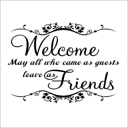 LLZZ Wall Sticker WELCOME MAY ALL WHO CAME AS GUESTS Home Removable Wal Stickers Wallpaper Wedding Living Room Decorative Wall Art