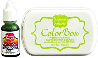 Premium Stamp Ink Pad and Refill Combo Pack by ColorBox and The Stamps of Life - Kiwi Green