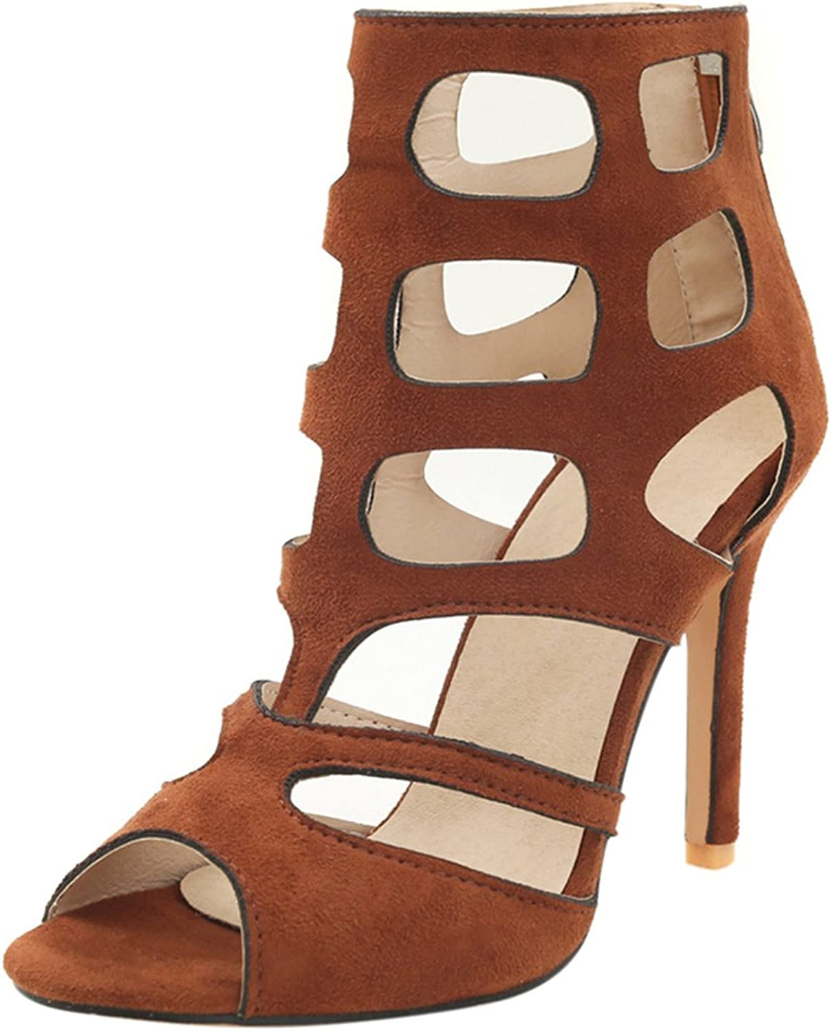 Artfaerie Women's Stiletto High Heels Gladiator Summer Boots Cut Out Peep Toe Sandals Party Ladies shoes