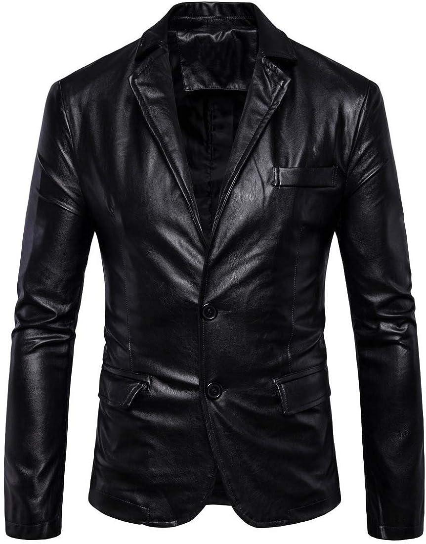 PYJTRL Men's Gorgeous Max 83% OFF elasticity jacket leather