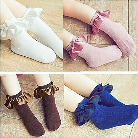 Baby Girls Cotton Socks Lace Ruffle Frilly Princess Style Socks