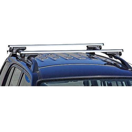 Universal Aluminium Roof Bars Cross Rail Set travel holiday kayak canoe skis snowboard 2 x 120cm