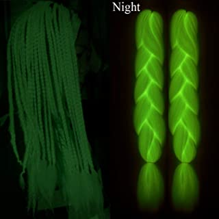Braiding Hair Glowing hair at night 24