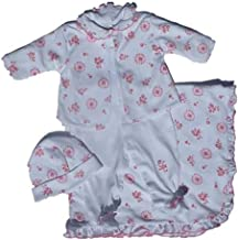 Cameo Flowers 4 Piece Take Me Home Outfit (Newborn) (14207)