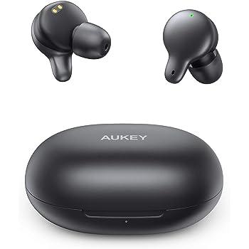 AUKEY Cuffie Bluetooth 5 Sport, Auricolari Senza Fili con Ricarica USB-C, Prova di Sudore IPX5, Touch Controllo, Microfoni Integrati per Samsung, iPhone, Huawei