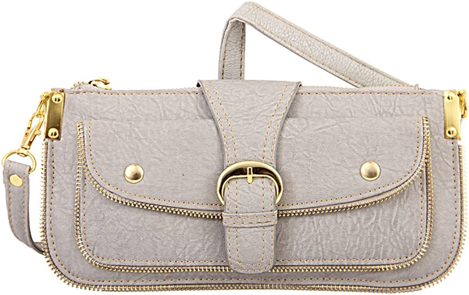 Mellow World Hipster Hb2806 Cross Body Bag, Grey, One Size