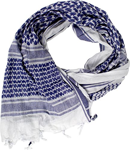normani Original PLO Pali Shemagh Tuch Farbe Weiß/Blau