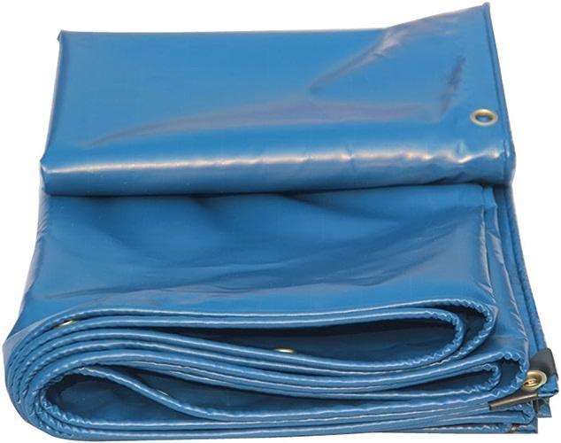 Toile Imperméable Bache Résistante Doubleure Tente De Camping Et D'extérieur - Prougeection UV, épaisseur 0,35 Mm, 450 G   M2, 9 Options De Taille (bleu) (taille   4MX6M)