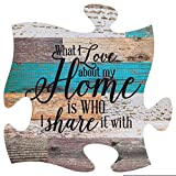 P. Graham Dunn What I Love About Home is Who I Share it with Multicolor 12 x 12...