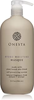 Onesta Hair Care Hydro Moisture Masque, 32 oz, with Aloe Juice, Avocado Butter - Intense Hydration Mask for Dry, Damaged Hair