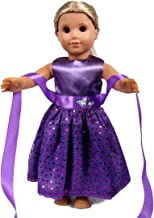 18 Inch Doll Clothes - Beautiful purple Dress with Dots Outfit Fits 18