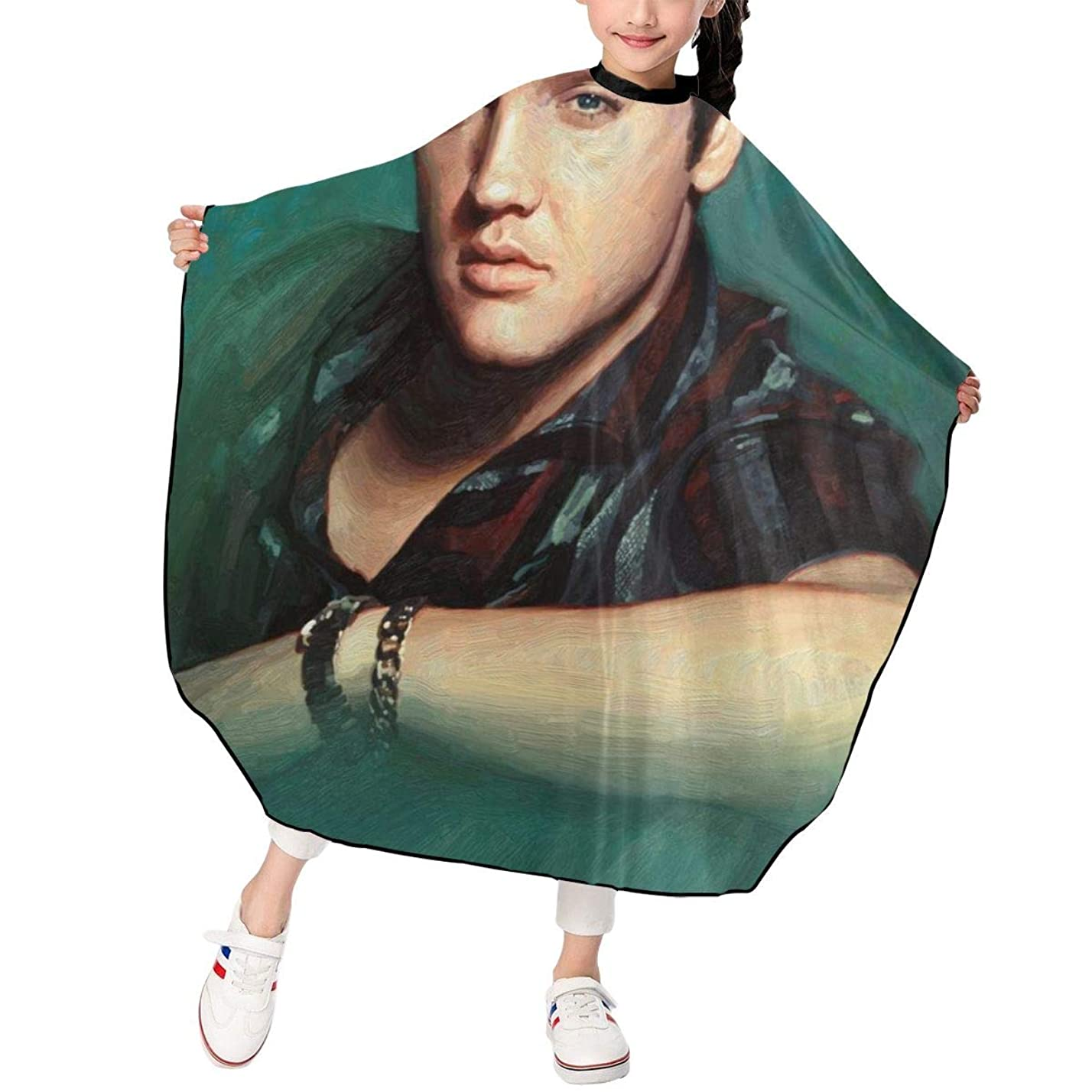 ゲージ四面体海港最新の人気ヘアカットエプロン 子供用ヘアカットエプロン120×100cm 音楽Elvis Presley 柔らかく、軽量で、繊細なポリエステル生地、肌にやさしい、ドライ