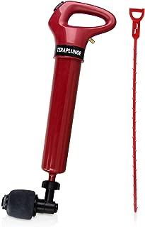 Genuine TERAPUMP Drain Blaster Plunger High Pressure Sink Plunger Opener Cleaner Air Pump for Bath Toilets Bathroom Shower Kitchen Clogged Pipe Bathtub Septic Tanks (Hair Drain Clog Removal Tool)