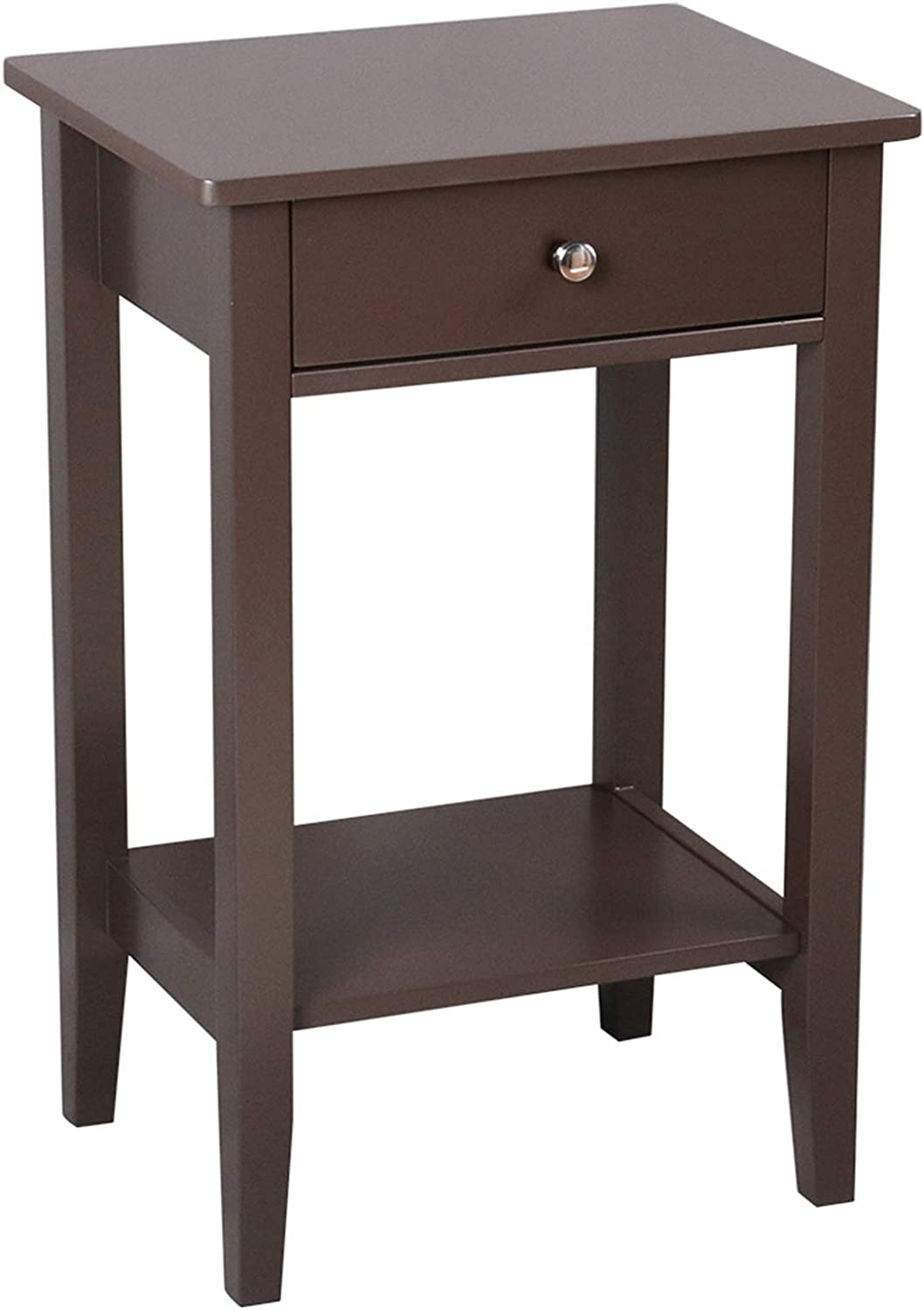 Savins Lowest Sales price challenge gt1-ZJ Two-Layer Bedside Table C Drawer Coffee with