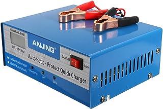 Houshome Carregador de bateria de ácido-chumbo 12V 24V plug UE Reparo automático inteligente de pulso para motocicleta aut...