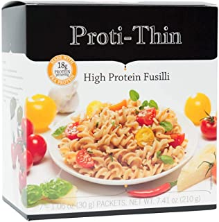 Proti-Thin - High Protein Pasta - Low Carb - Dairy Free - Fusilli - 7/Box