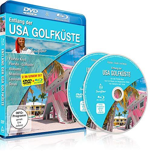 Entlang der USA Golfküste (Florida Keys, Florida - Golfseite, Alabama, Mississippi, Louisiana, Texas) [DVD] und [Blu-ray] in einem Set
