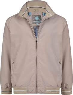 Kam Mens Big Size Lightweight Shell Summer Bomber Harrington Jacket Coat