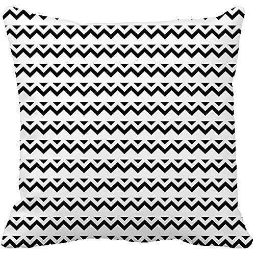 Babydo Kussensloop Abstract Zig Zag Zwart Chevron Klassiek Modern Creatief Tekenen 45X45cm Vierkant Kussensloop Kussensloop Huis Decoratieve Kussensloop Kussensloop