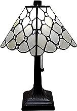 Amora Lighting AM213TL08B Tiffany Style Table Lamp, White