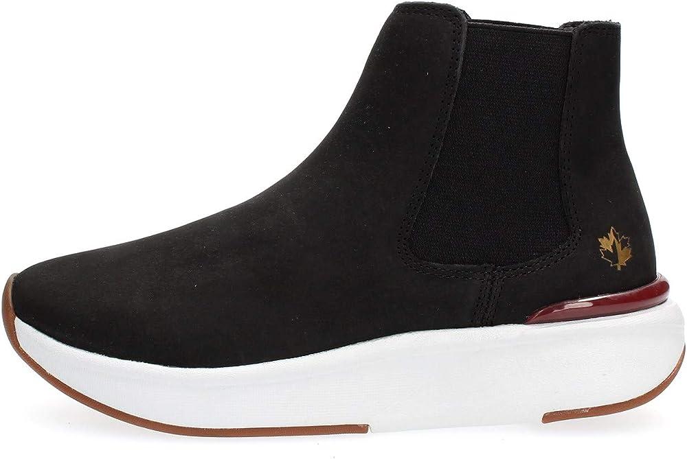 Lumberjack meryl  sneakers alte stivaletto slip on scarpe in pelle donna SW66413