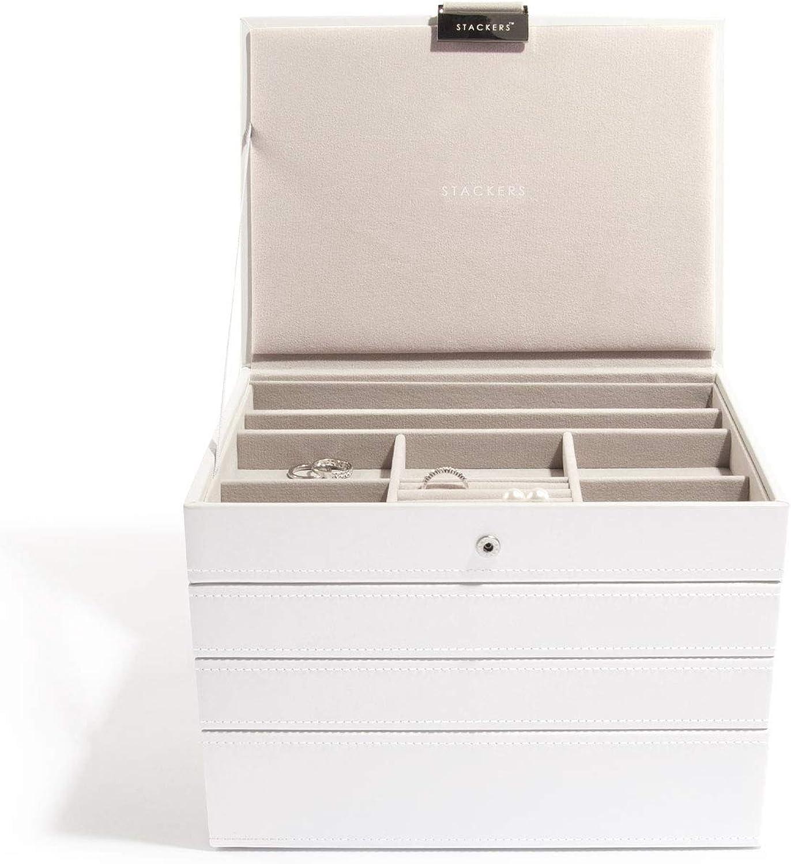 Stackers Stapelbare Schmuckksten ( Classic Größe ) 4 Stück - Wei, Set mit 4 - 17% Discount