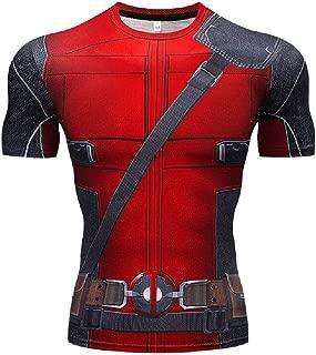 Joyfunny Superhero DP Compression Shirt Short/Long Sleeve Sports Gym Tight Base Layer